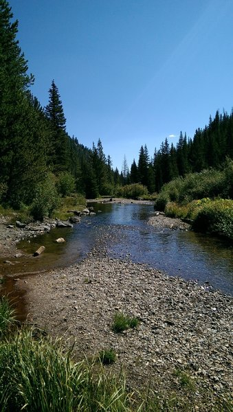 The appealing creekside tempts hikers