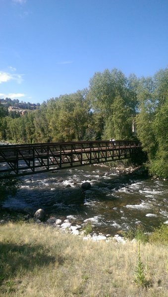 Pedestrian bridge over the Eagle River, just before the Riverwalk area in Edwards