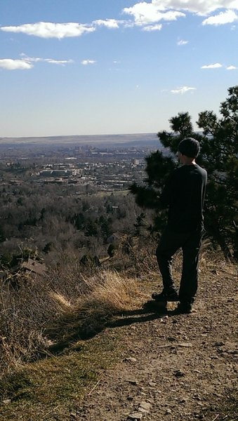Taking in the views of Boulder from the Cairn Trail