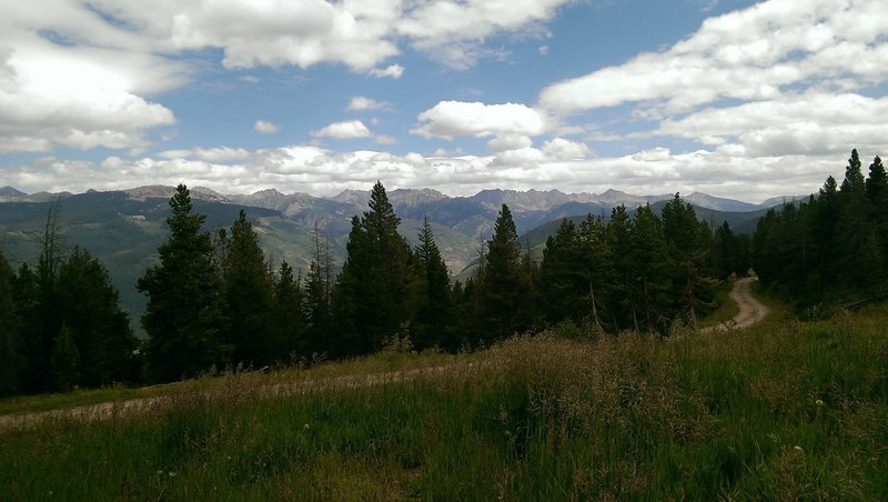 Views eastwards towards the Gore Range