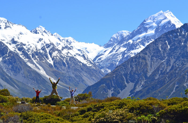 Mt Cook from the Red Tarns.