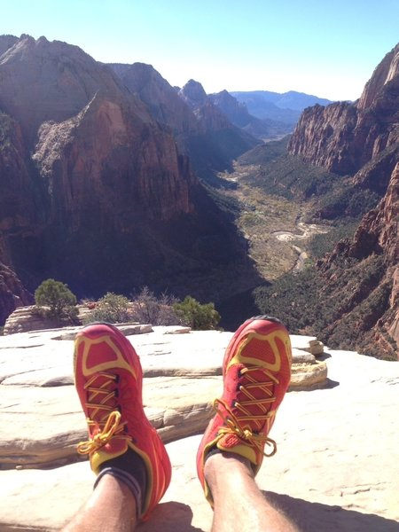 Doesn't get much better than this. Chillin atop Angel's Landing.