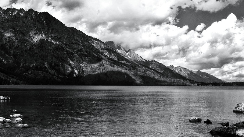 Looking across Jenny Lake to Rockchuck Peak (11,081').