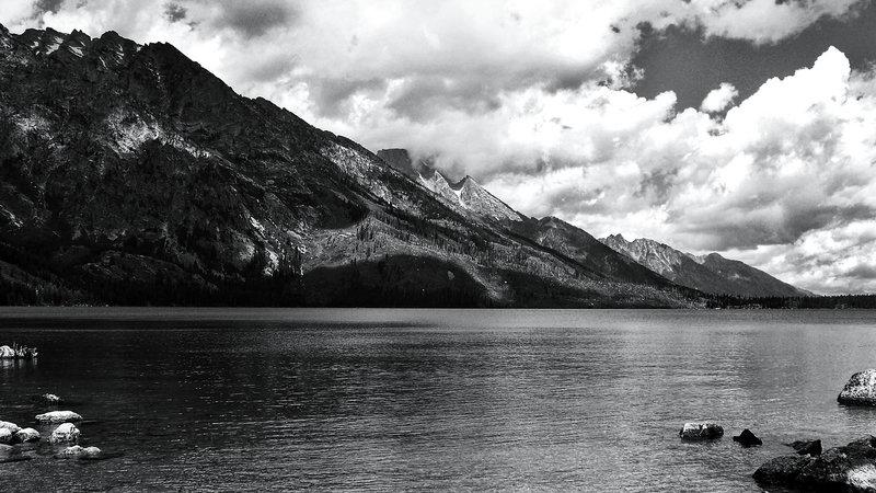 Looking across Jenny Lake to Rockchuck Peak (11,081').