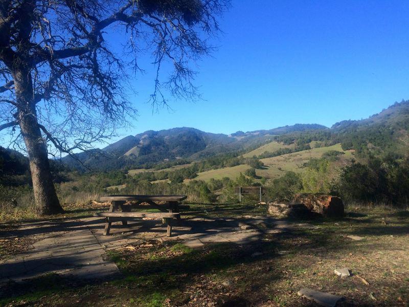 Picnic spot on the Hillside Trail