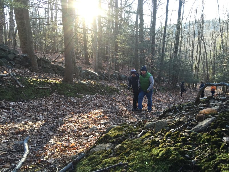 Awesome light on one of the easier ascents on Yellow Trail - Pine Mountain.