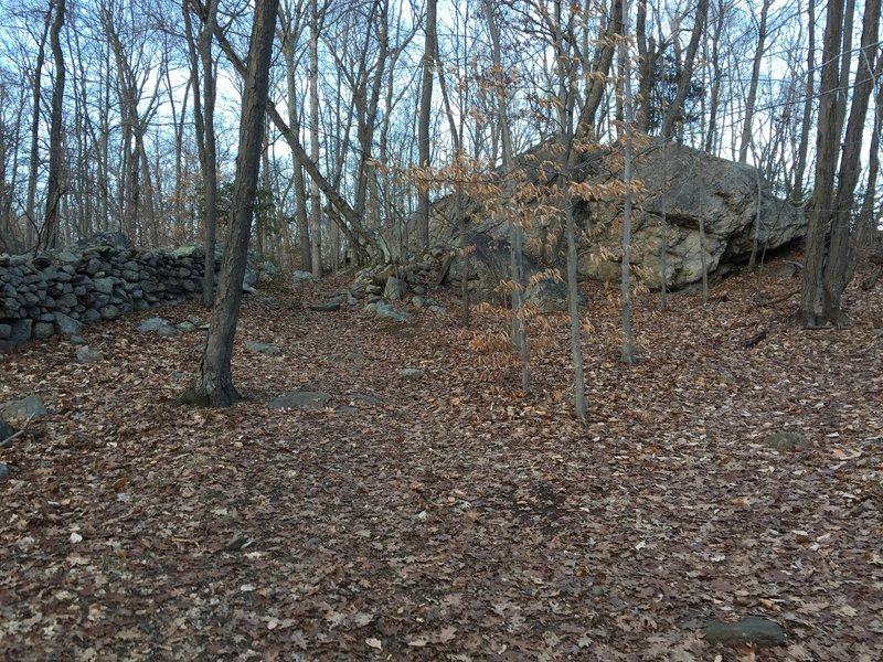 A massive granite outcrop on Laurel Trail.