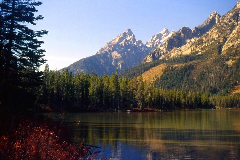 The Tetons from String Lake