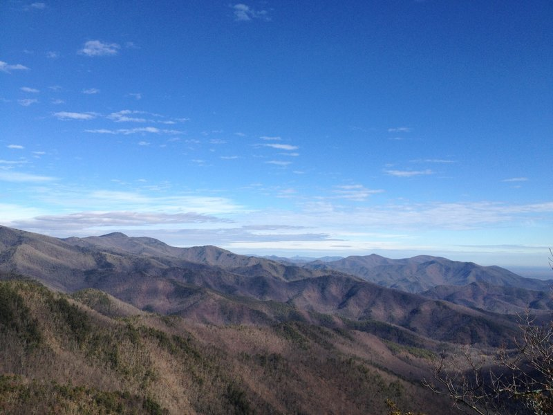 View looking towards Mt. Mitchell.