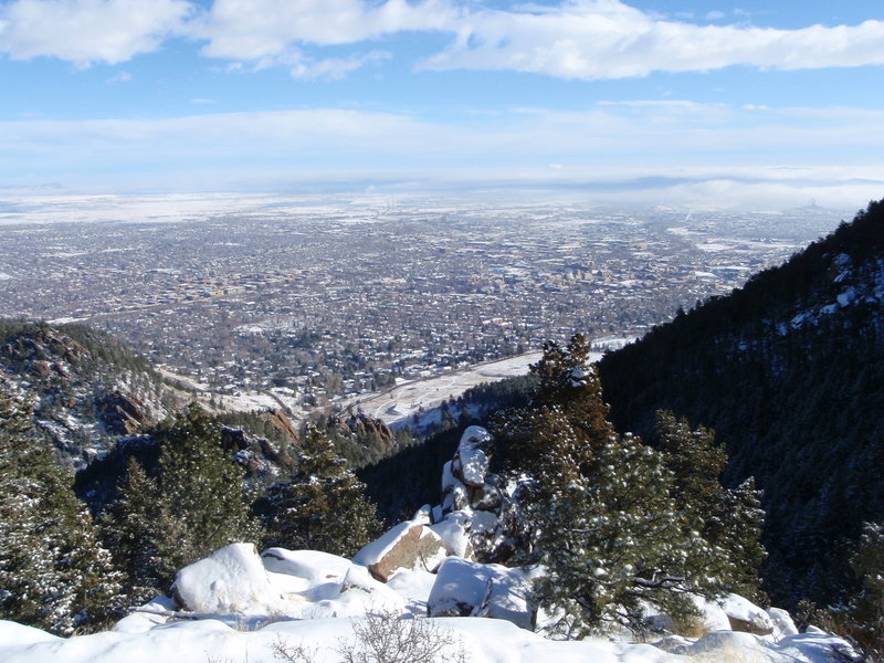 Snowy Boulder from Saddle Rock Trail. with permission from BoulderTraveler