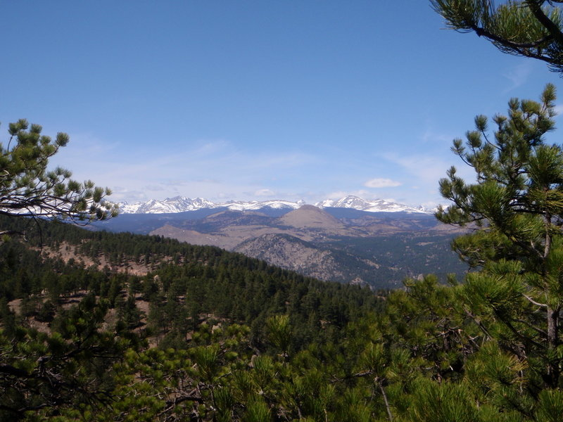 Indian Peaks from Saddle Rock with permission from BoulderTraveler