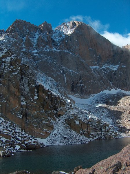Chasm Lake, Longs Peak, Rocky Mountain National Park, Colorado with permission from Richard Ryer