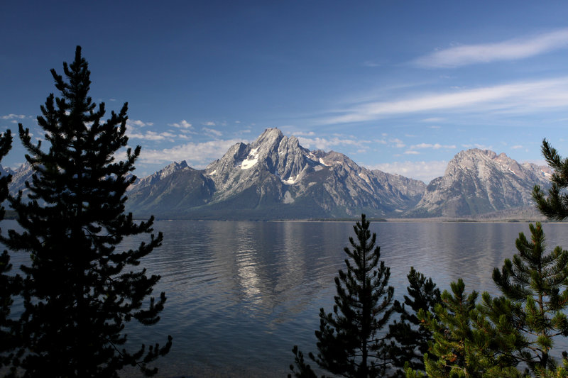 Mount Moran and Jackson Lake from Colter Bay Village, Grand Teton National Park, Wyoming with permission from Richard Ryer