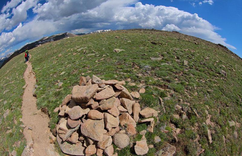 Ute Trail and cairn, Trail Ridge