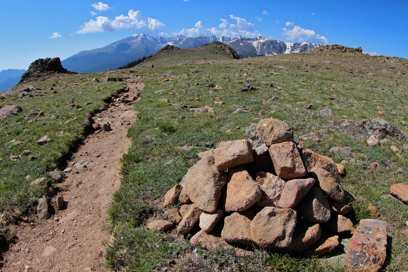 Cairn along Ute Trail, Trail Ridge