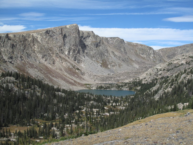 Mirror Lake from the Comanche Peak Trail. with permission from Ed Ogle