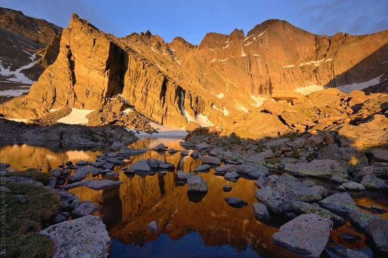 The edge of Chasm Lake