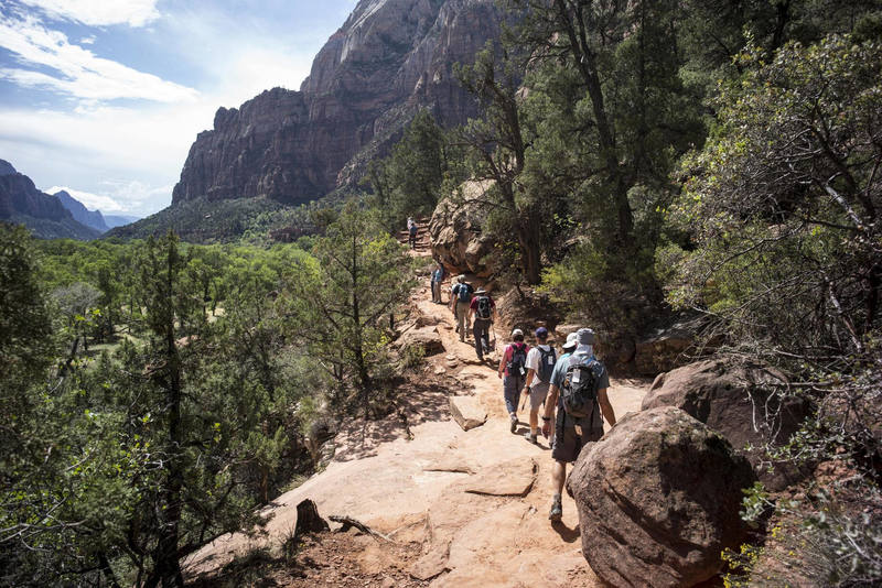 Hiking the Emerald Pools Trail