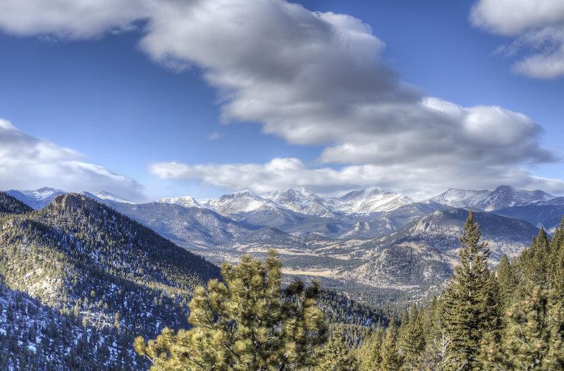 RMNP from Aspen Brook Trail.