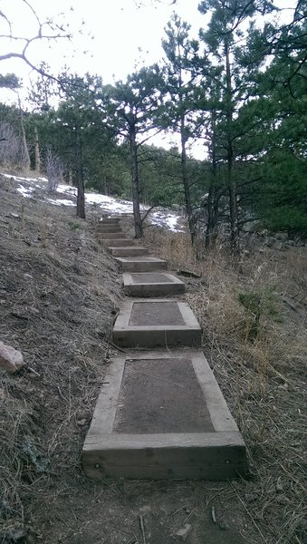 Well built steps on the Sunshine Canyon Trail
