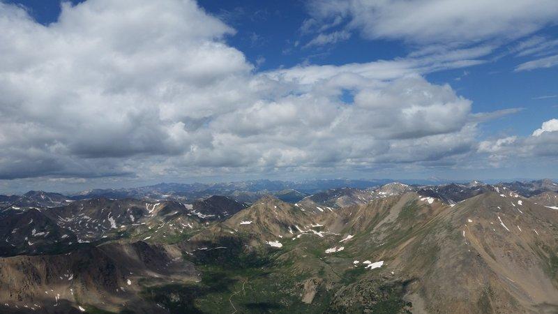 Summit view, Mt Elbert Colorado