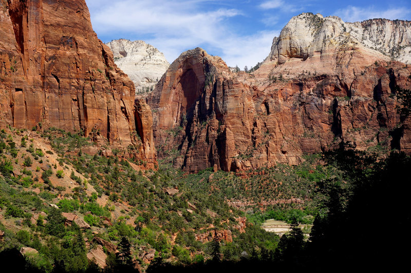 The view from the top of Emerald Pools.