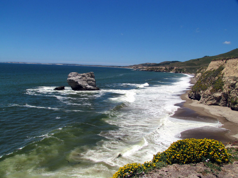 Looking north from Arch Rock, Point Reyes