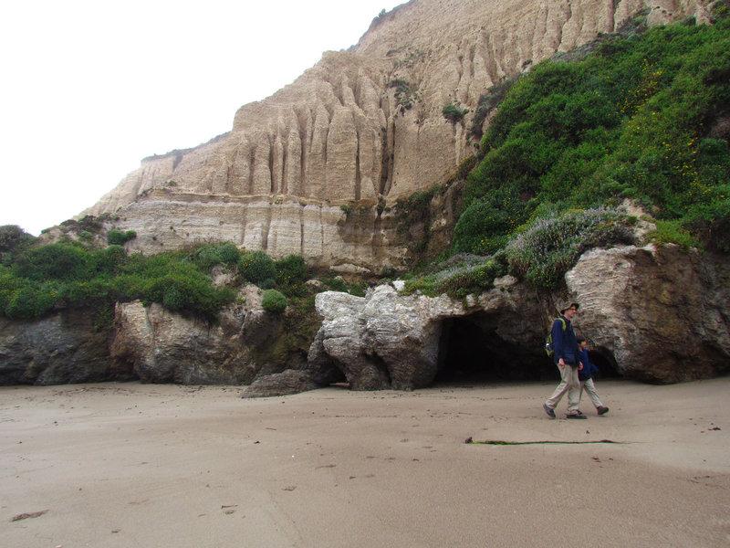 Sandstone formations on Sculptured Beach