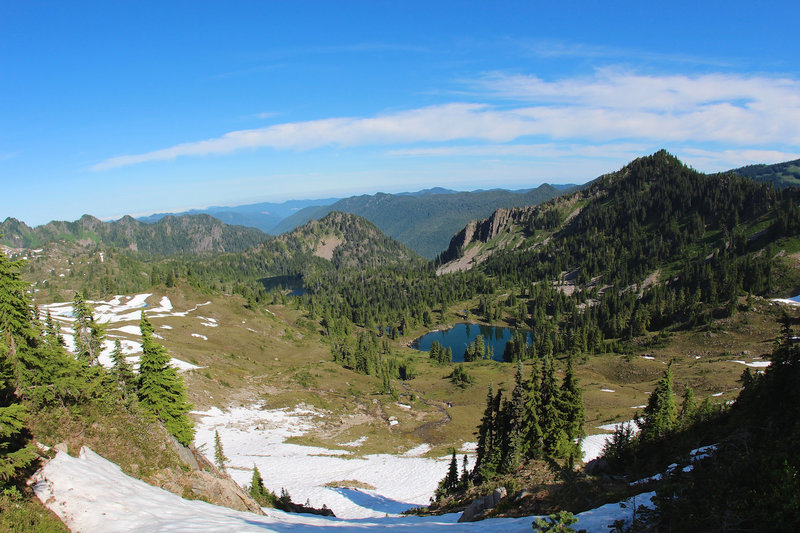 Another view of Seven Lakes Basin
