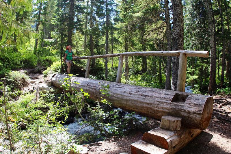 Log Bridge on Soleduck River Trail