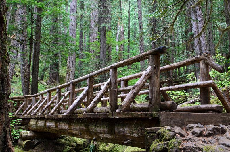 Bridge fording Lena Creek