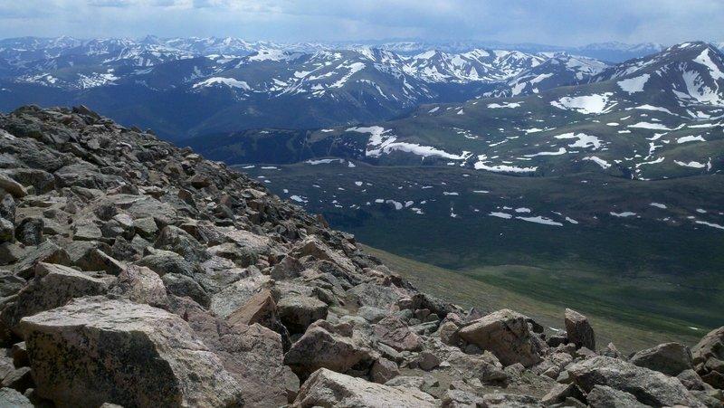 Mt Bierstadt summit view