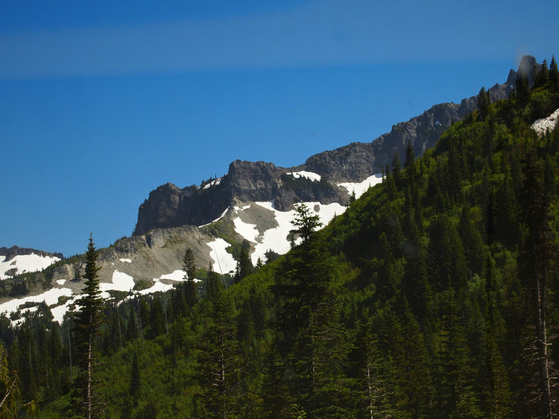 The slopes of Mt. Rainier.