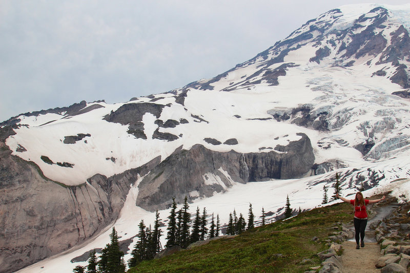 Actual size of Marlena and Mount Rainier