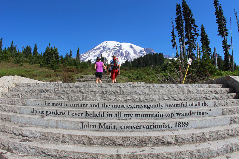 Quote by John Muir in Paradise