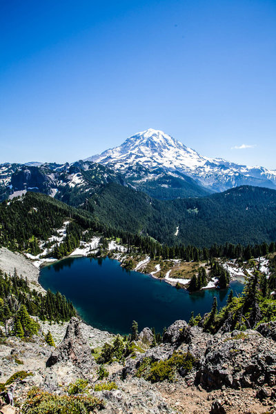 Mount Rainier from Tolmie Peak Lookout