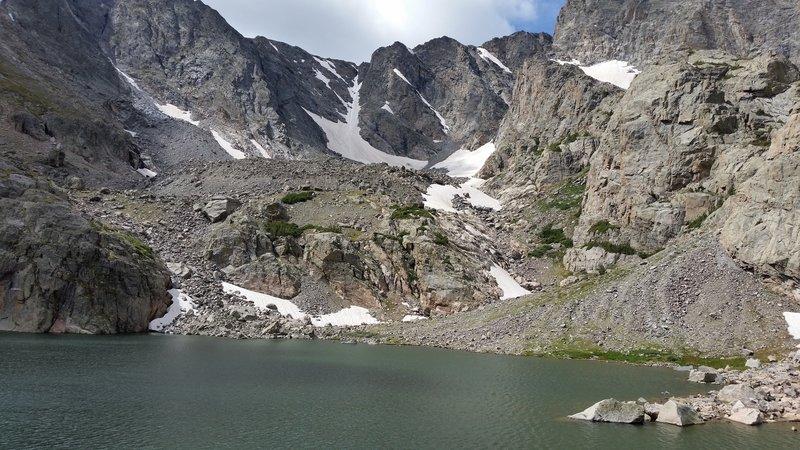 Sky Pond and Taylor Glacier