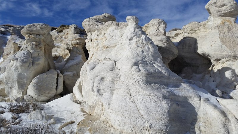 Paint Mines Park white formations