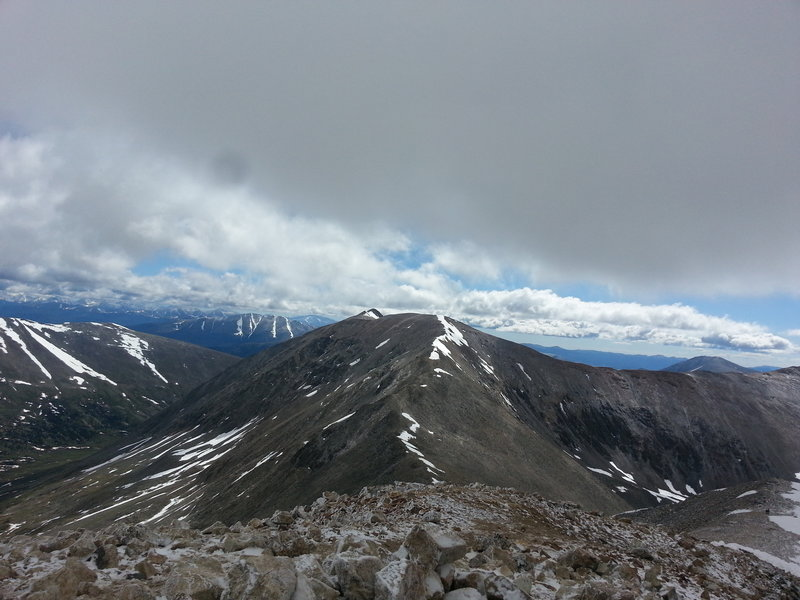 Summit of Mt Lincoln looking at Mt Cameron