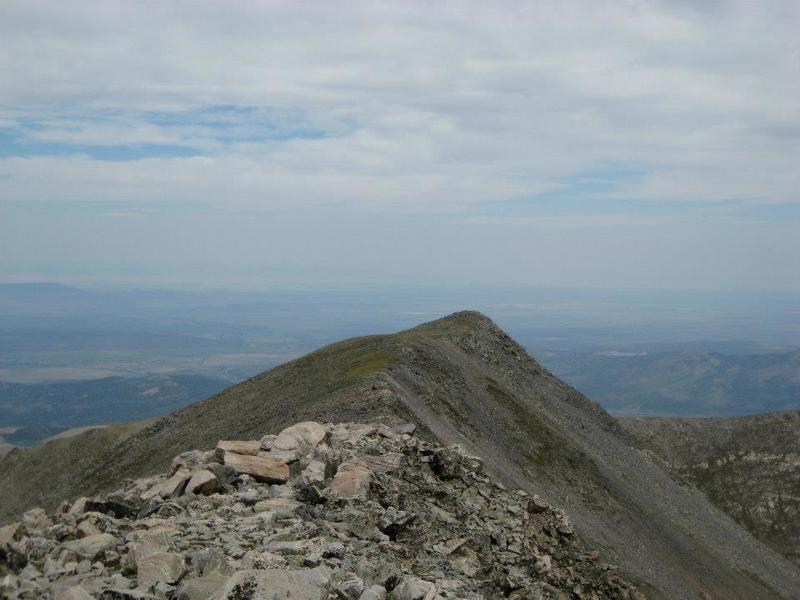 A look at standard summit ridge terrain.