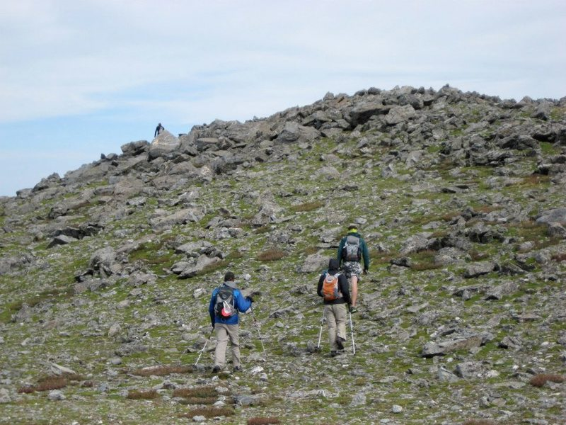 Hikers approaching the summit.