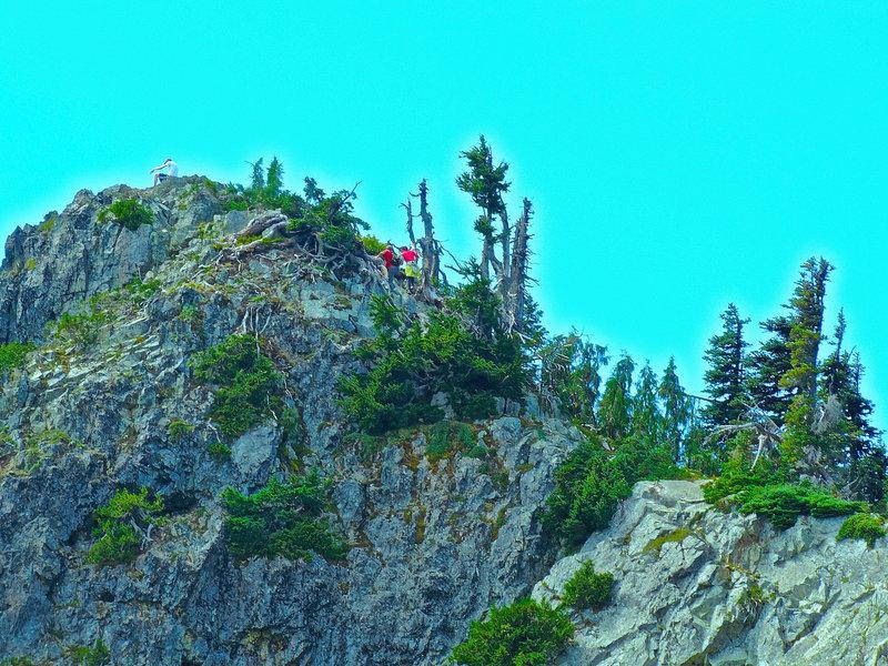 Looking back to Plummer Peak