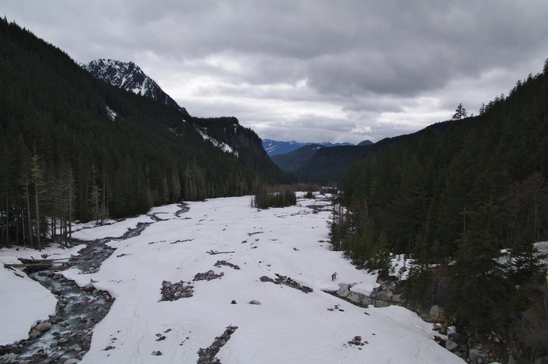 Looking up the West Fork of the White River.