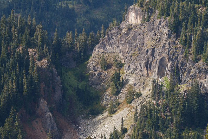 Looking down Chinook Creek drainage.