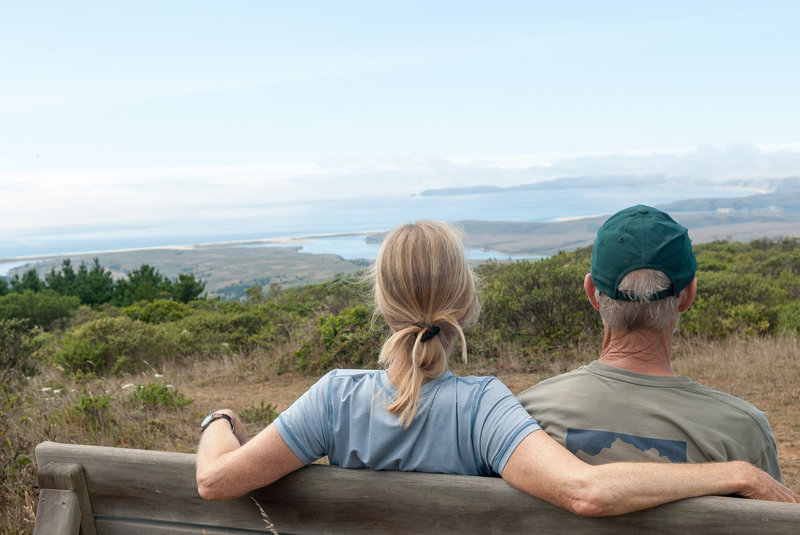 View from the bench atop Point Reyes Hill