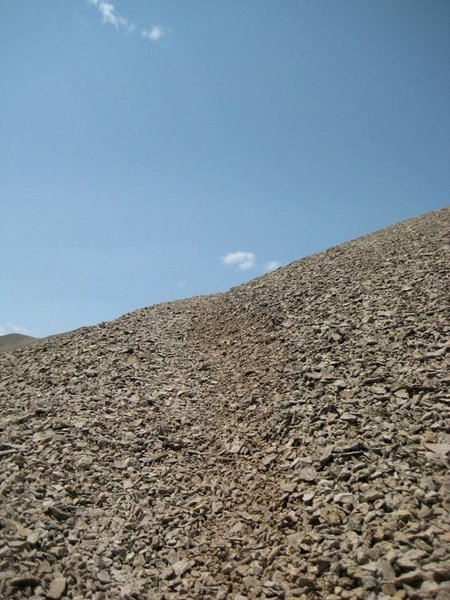 Though there's not much of it, this is indeed a Colorado 14er...expect some scree!