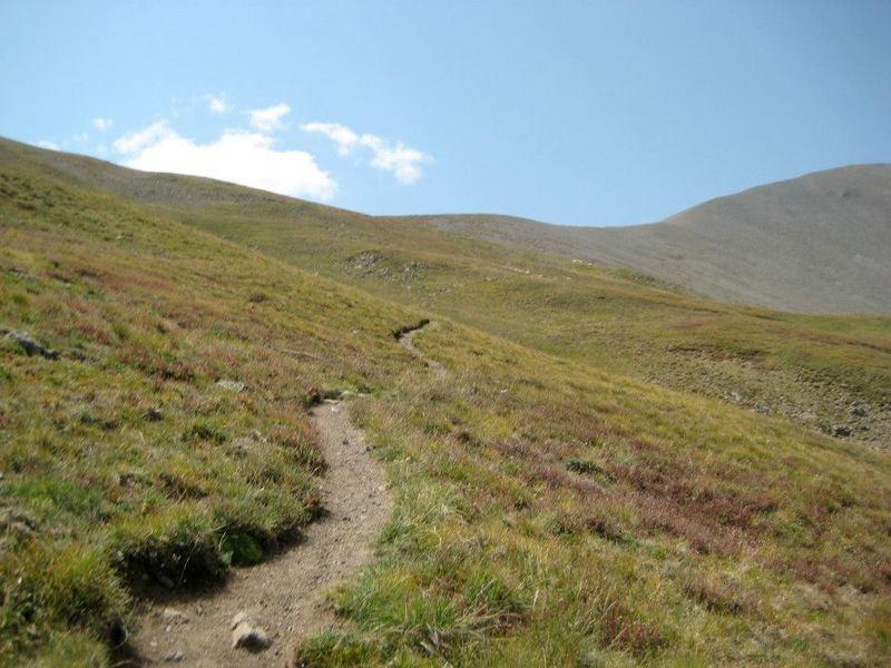 Great trail approaching the summit ridge.  On Stewart Creek trail