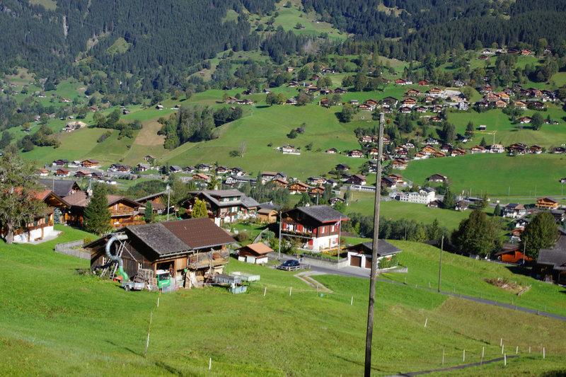 The upper slopes of Grindelwald.