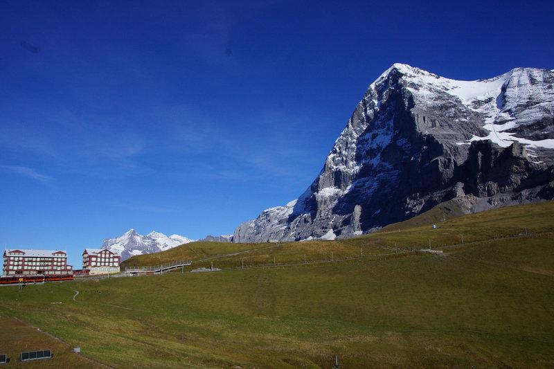 The Eiger and Kleine Scheidegg