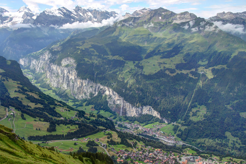 Glacial Landscapes - The Lauterbrunnen Valley seen from Männlichen, Switzerland